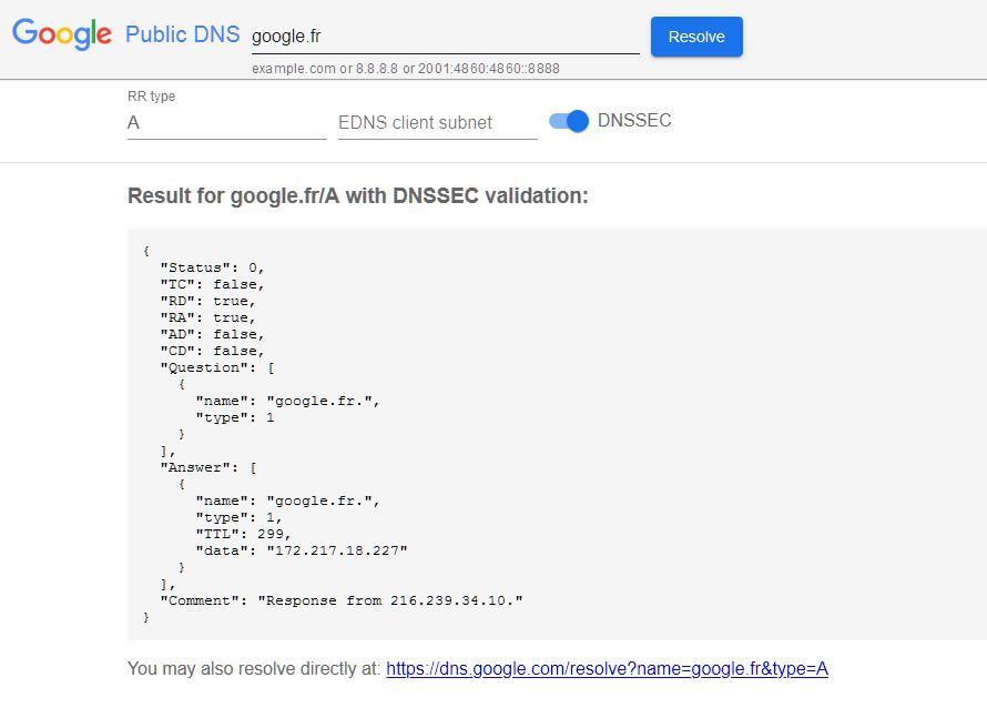api google DNS